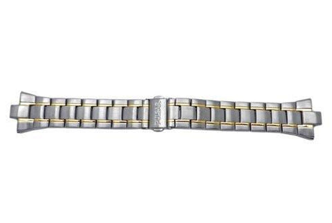 Pulsar Dual Tone Stainless Steel Push Button Clasp 25/8mm Watch Bracelet