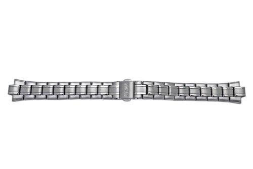 Pulsar Stainless Steel Ladies Fold-Over Clasp With Push Button Watch Bracelet