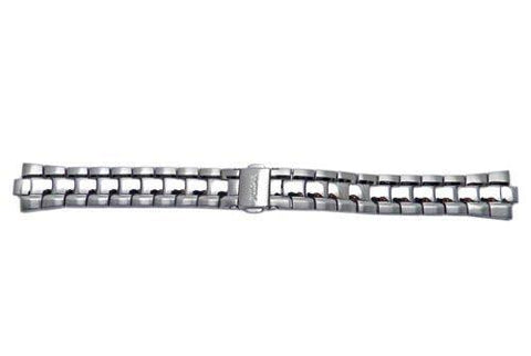 Pulsar Stainless Steel Ladies Push Button Fold-Over Clasp Watch Bracelet