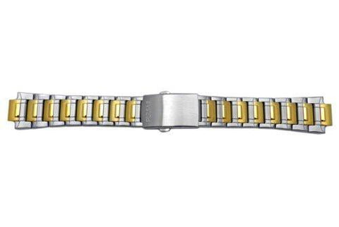 Pulsar Men's Dual Tone Stainless Steel Push Button Clasp 22/13mm Watch Bracelet