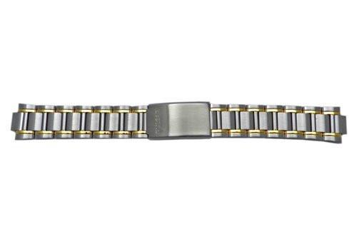 Pulsar Dual Tone Fold-Over Clasp Men's 20mm Replacement Watch Bracelet