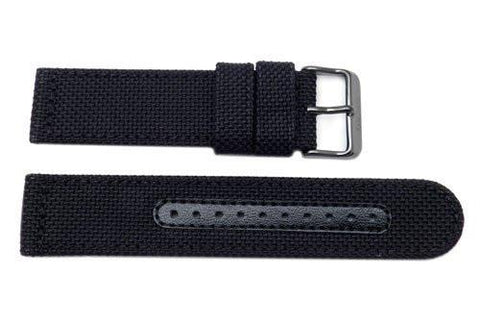Genuine Seiko Sport Solar Series Black Nylon 22mm Watch Strap