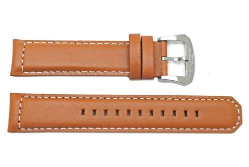 Seiko Tan Genuine Smooth Leather 21mm Watch Band
