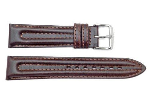 Seiko Brown Genuine Padded Leather 20mm Watch Band
