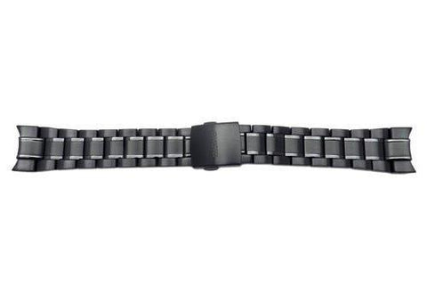 Seiko Black Ionized Stainless Steel 21mm Watch Bracelet