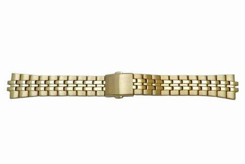 Seiko Gold Tone Push Button Fold-Over Clasp 18mm Metal Watch Bracelet