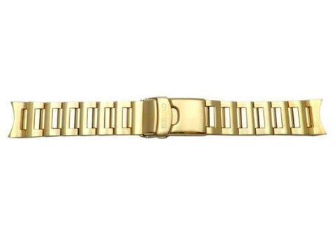 Genuine Seiko Gold Tone Solid 21mm Watch Bracelet