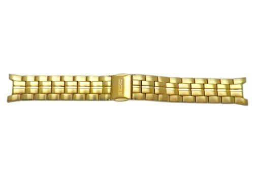 Seiko Solid Gold Tone Push Button Fold-Over Clasp 20mm Watch Bracelet