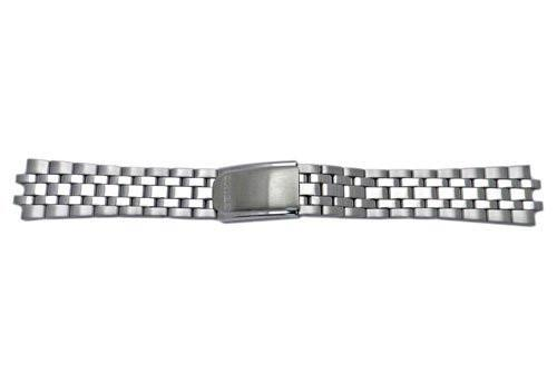 Seiko Stainless Steel Fold-Over Clasp 18mm Metal Watch Bracelet