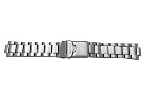 Seiko Brushed Push Button Fold-Over Clasp 22mm Solid Watch Bracelet