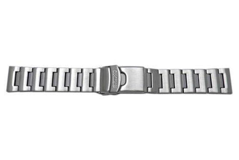 Seiko Push Button Fold-Over Clasp With Safety 22mm Solid Watch Bracelet