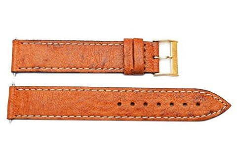 Swiss Army Golden Delta II Series Brown Smooth Leather 18mm Watch Band
