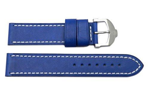 Genuine Swiss Army Blue Smooth Leather Cavalier 20mm Watch Strap