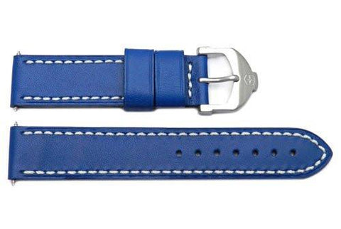Genuine Swiss Army Blue Smooth Leather Cavalier 18mm Watch Strap