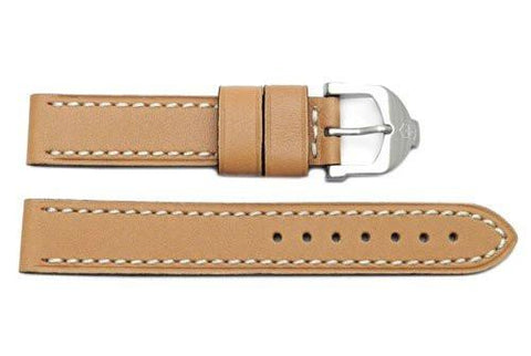 Genuine Swiss Army Tan Smooth Leather Cavalier 16mm Watch Strap