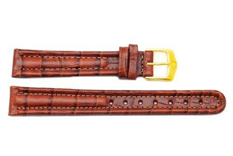Genuine Wenger Ladies Brown Escort Series 14mm Crocodile Grain Watch Band