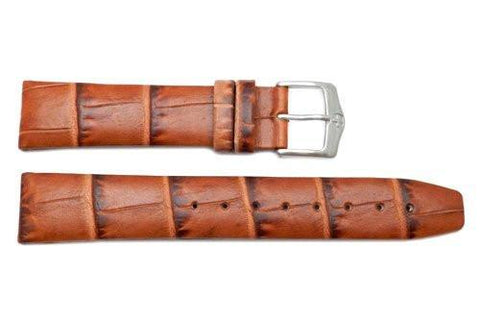 Genuine Wenger Escort Series Brown Alligator Grain 20mm Leather Watch Strap