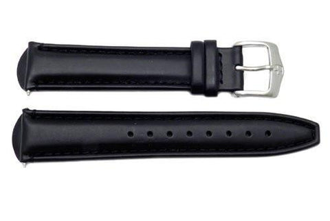 Genuine Wenger AeroGraph Series Black 20mm Leather Watch Strap