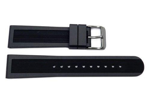 Swiss Army Dive Master 500 Series Black Rubber 19mm Watch Strap