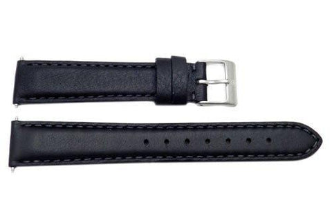 Swiss Army Garrison Series Black Leather 16mm Watch Band