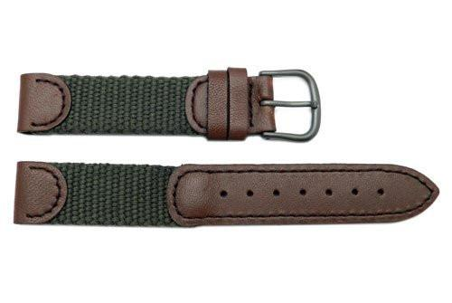 Swiss Army Cavalry Series Brown and Olive Green Nylon 16mm Watch Strap