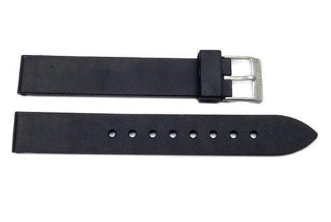 Swiss Army Recon Series Black Rubber 14mm Watch Strap