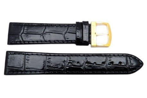 Citizen Eco-Drive Series Black Leather Alligator Grain 20mm Watch Strap