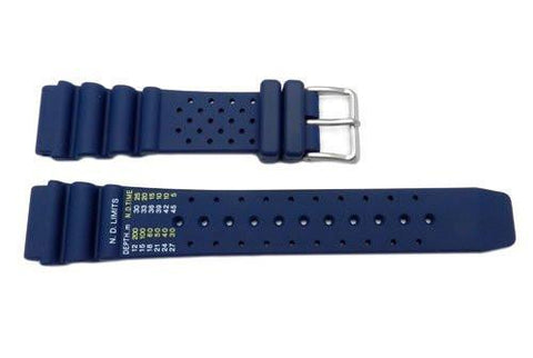 Citizen Dark Blue Rubber Promaster 20mm Watch Strap
