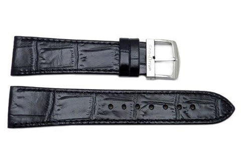 Citizen Eco-Drive Series Black Leather Alligator Grain 21mm Watch Strap