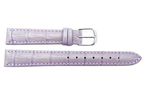 Citizen Calf Leather Alligator Grain 14mm Lavender Watch Strap