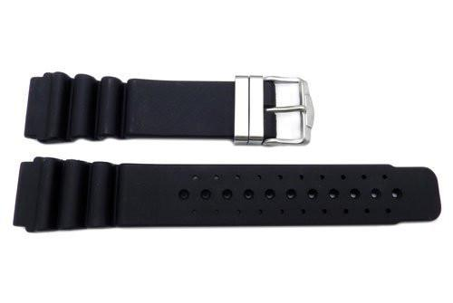 Citizen Eco Drive Series Black Rubber Polyurethane 21mm Watch Strap