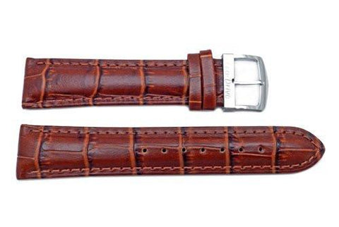 Citizen Eco-Drive Series Light Brown Leather Alligator Grain 20mm Watch Strap