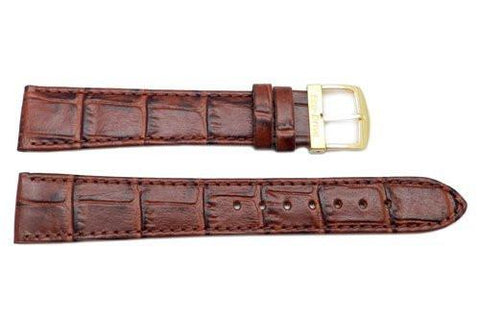 Citizen Eco-Drive Series Brown Leather Alligator Grain 19mm Watch Strap