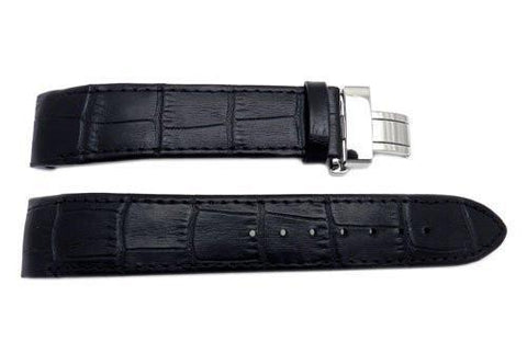 Genuine Citizen Eco-Drive Black Textured Leather 18mm Watch Band