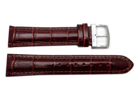 Citizen Eco-Drive Series Dark Brown Leather Alligator Grain 20mm Watch Strap