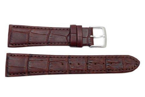 Citizen Eco-Drive Series Brown Leather Alligator Grain 20mm Watch Band