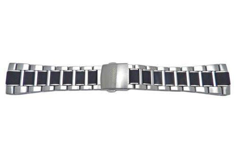 Seiko Velatura Yachting Stainless Steel And Black Resin 26mm Watch Bracelet