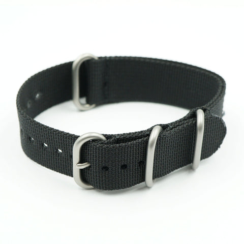NATO Nylon One Piece Black Strap