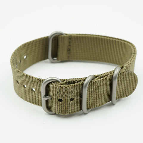 NATO Nylon One Piece Olive Strap