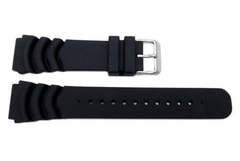 Seiko Genuine Black Resin Diver's 22mm Watch Band