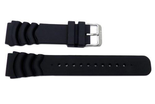 Seiko Genuine Black Rubber Diver's 22mm Watch Band
