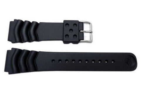 Seiko Genuine Black Rubber Divers 22mm Watch Band