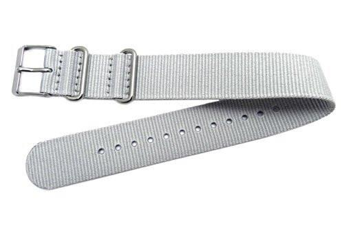 Timex Weekender Gray Nylon Nato Style 20mm Watch Strap