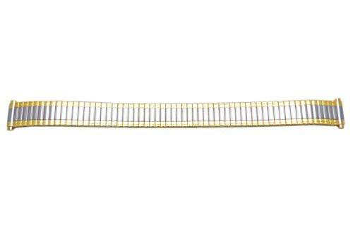 Bandino Ladies Slim Polished Dual Tone 11-14mm Expansion Watch Band