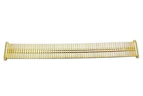 Bandino Slim Polished Gold Tone 16-20mm Expansion Watch Band