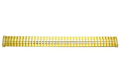 Bandino Ladies Brushed And Polished Gold Tone 10-14mm Expansion Watch Band