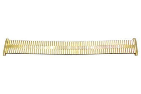 Bandino Slim Polished Gold Tone 16-21mm Expansion Watch Band