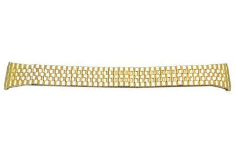 Bandino Polished Gold Tone 16-21mm Expansion Watch Band
