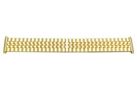 Bandino Brushed And Polished Gold Tone 18-22mm Expansion Watch Band