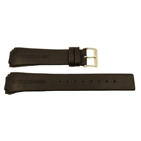 Genuine Skagen Dark Brown Smooth Leather 22mm Watch Strap - Screws